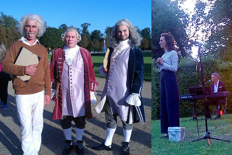 Einstein, Frederick the Great and Voltaire were out and about at Potsdam Castle Night just as much as Marlene Dietrich was.